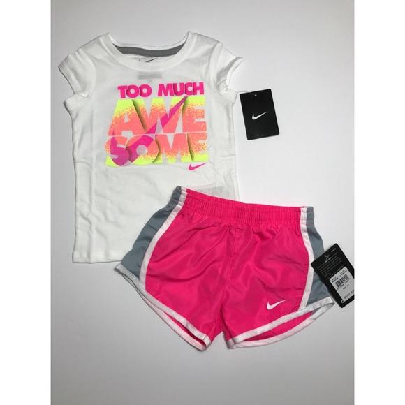 be623ec4deba Nike Matching Sets | Nwt Toddler Girl 2 Pc Tee Drifit Shorts 3t ...